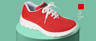 Imagen con el zapato/zapatilla Calpe roja