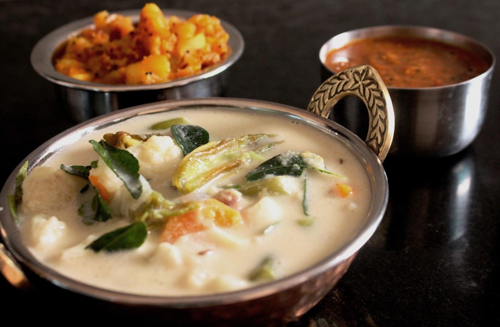 Tirunelveli Sodhi Kuzhambu (Cream of Coconut Milk with Vegetables) -  Bhojana Recipes