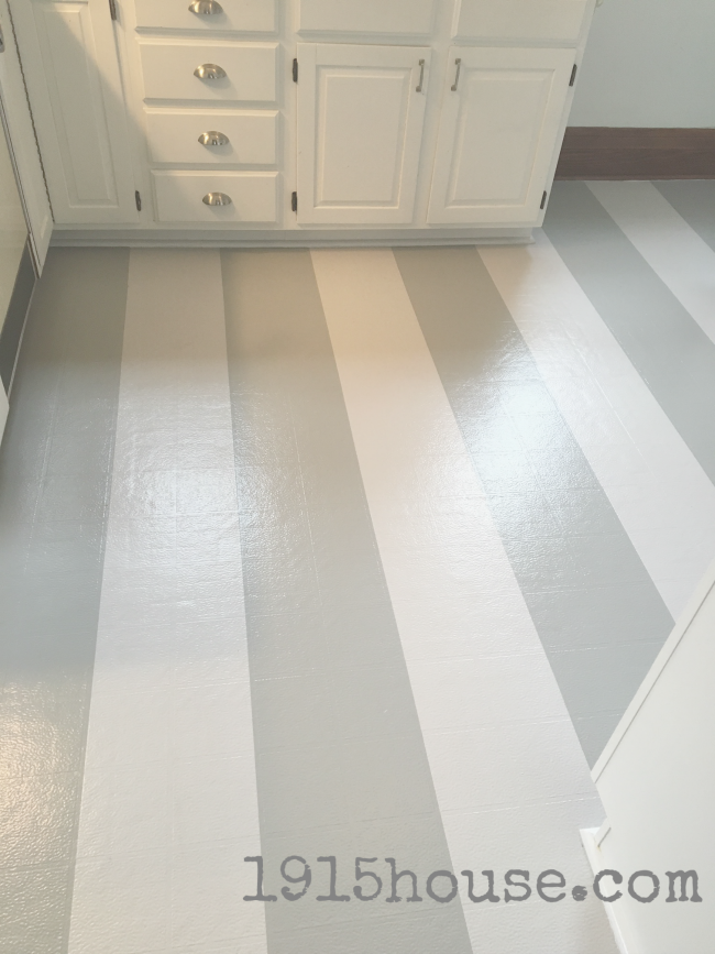 May before and after link up from thrifty decor chick for Painting linoleum floors