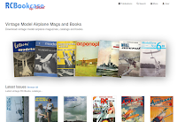 RC Bookcase Vintage Model Airplane Magazines Catalogs