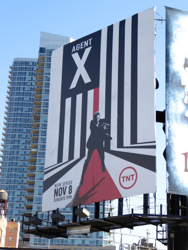 Agent X series launch billboard NYC
