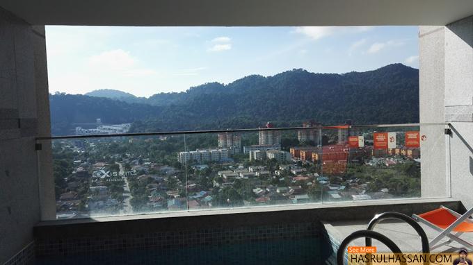Mandi Kolam Dengan Privasi di Lexis Suites Penang