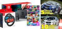 Logo Vinci gratis 1 Console Nintendo Switch, il gioco Mario Kart 8 Deluxe + 2 volanti e 15 corsi di Guida