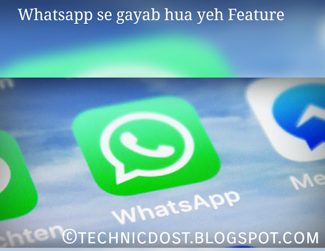 Whatsapp has removed copy feature