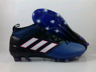 jual sepatu bola Adidas Ace 17.3 PrimeKnit FG - Black Blue