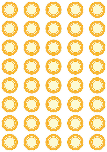 Printable bingo chips of orange color