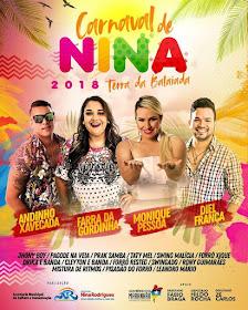 Prefeitura de Nina Rodrigues divulga programação do Carnaval 2018