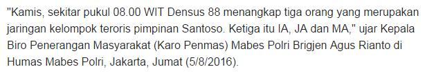 Detasemen Khusus 88 (Anti Teror) Atau Lebih Akrab Dikenal dengan Nama Densus 88 Dikabarkan Telah Berhasil Menangkap Tiga Kaki Tangan ALM Santoso - Commando
