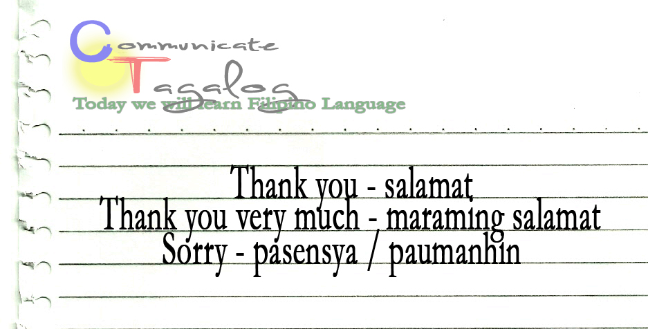 ct lesson 3 how to say thank you and sorry in tagalog