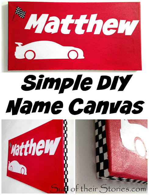 Simple DIY name Canvas