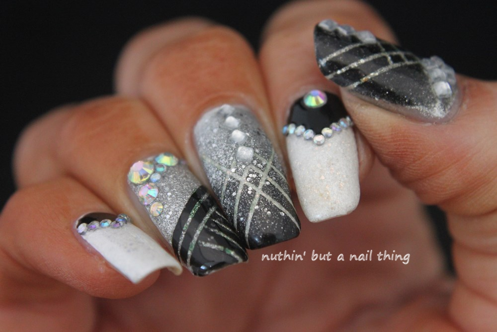 Nuthin but a nail thing great gatsby and glitter great gatsby 1920s inspired nail art prinsesfo Choice Image