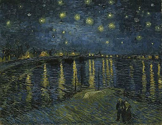 Van Gogh Starry Night Over the Rhone painting