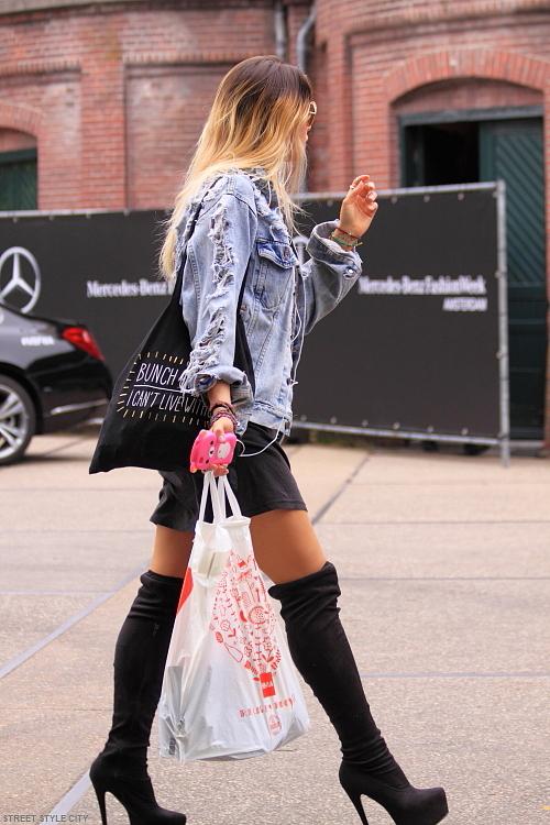 Lbd and high heeled otk boots