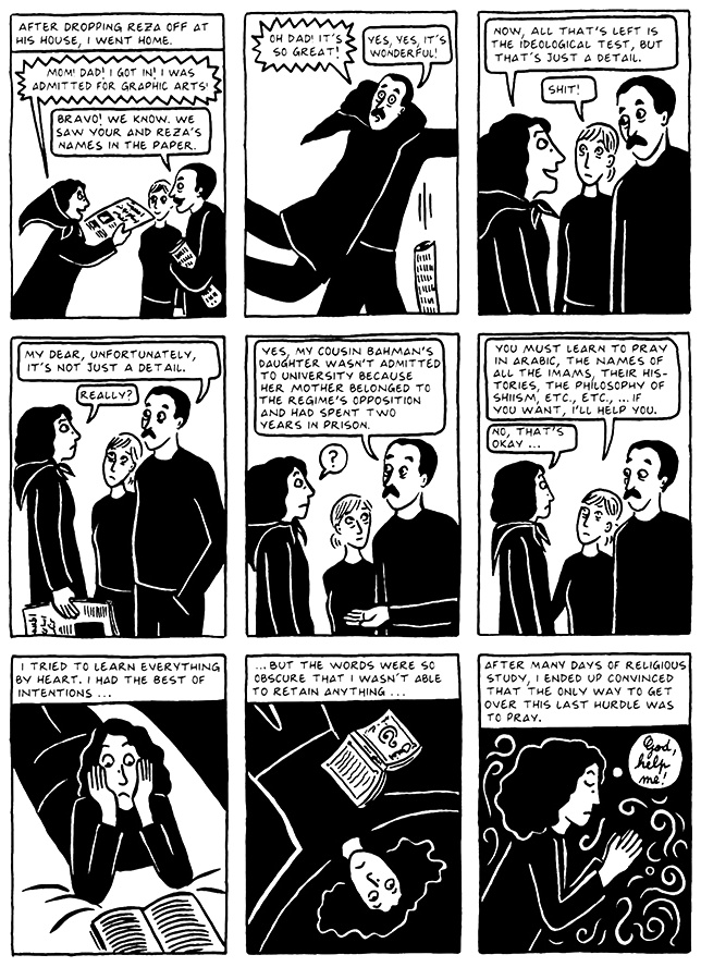 Read Chapter 13 - The Exam, page 129, from Marjane Satrapi's Persepolis 2 - The Story of a Return