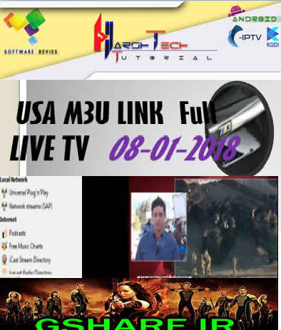 USA TV M3U LINK 08.01.2018 - FREE PREMIUM CABLE WORLD TV CHANNEL ON VLC,KODI.
