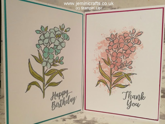 Southern Serenade card making samples using rubber stamps