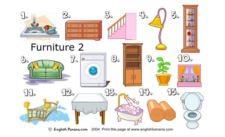 Living Room Furniture Names In English