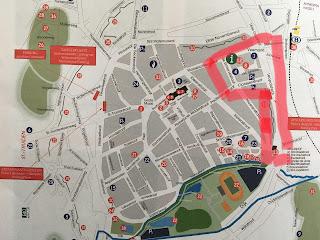 Stadtplan Tongeren Antikmarkt Belgien