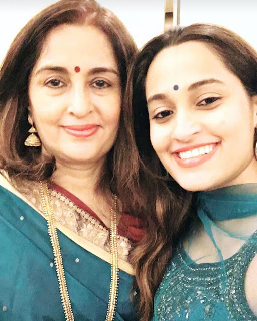 Shweta Pandit with Mother