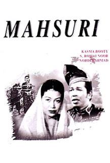 Poster Filem Mahsuri 1959 Lakonan Kasma Booty, S Romai Noor, Lagenda Mahsuri Pulau Langkawi, sumpahan mahsuri, 7 keturunan,