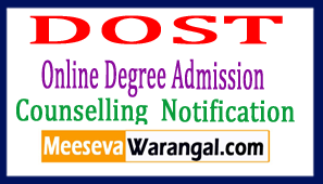 DOST Telangana Degree Admission 2018 Online Application