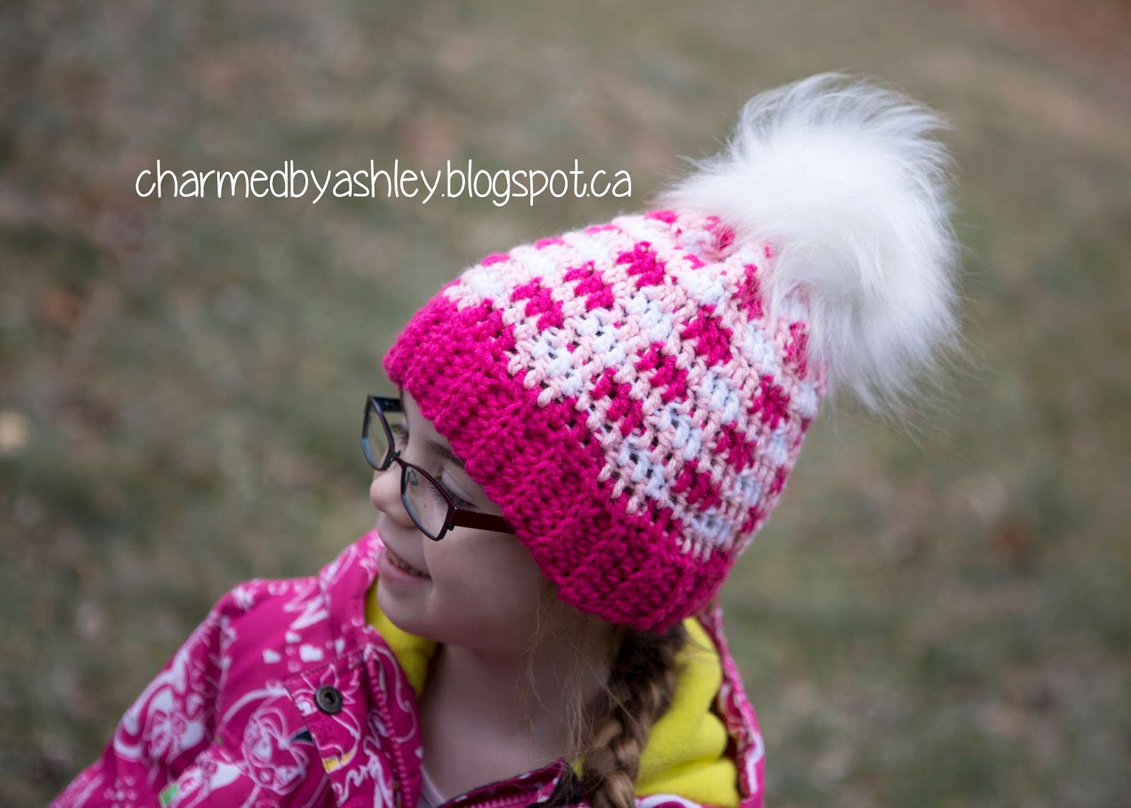 Free pattern - crochet plaid hat - baby to child size - Charmed By ... c19b1ea8f9e