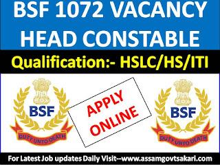BSF Online Apply