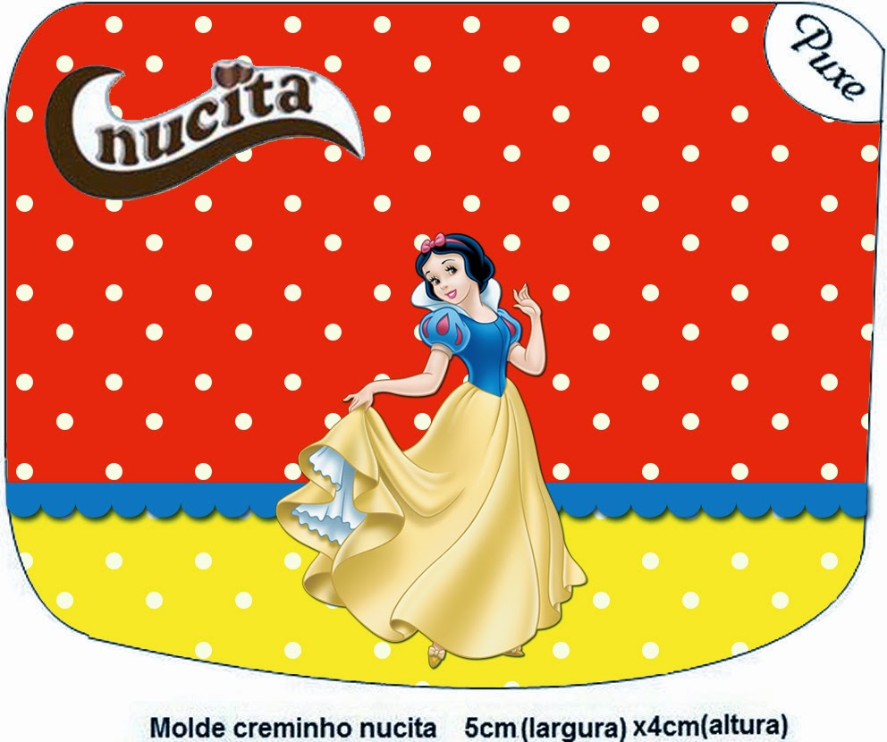 Snow White Free Printable Nucita Candy Bar Labels