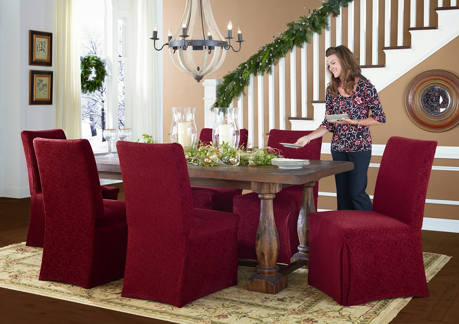merry christmas chair covers kmart kitchen table and chairs sure fit slipcovers