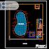 مخطط مشروع مسبح منزلي بكل التفاصيل اوتوكاد dwg