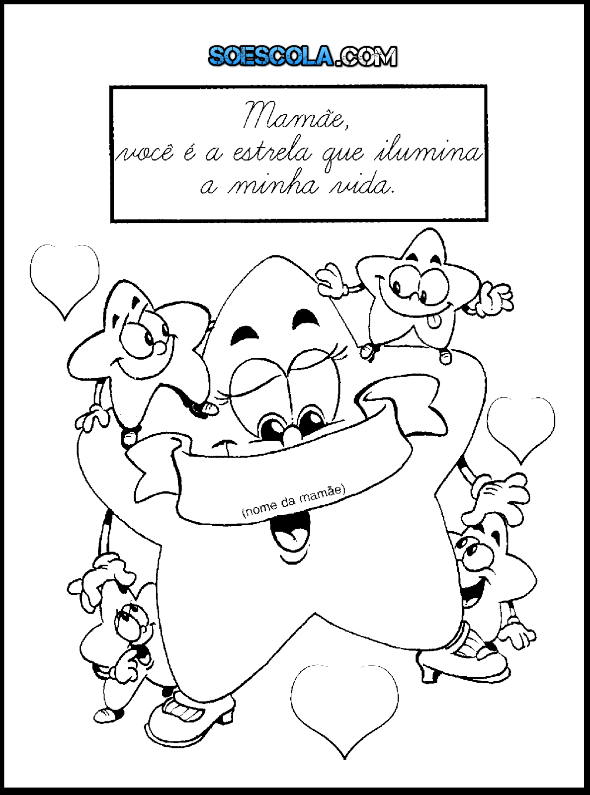 Desenhos Para Imprimir E Colorir Dia Das Maes So Escola