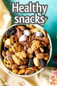 Healthy snacks trail mix