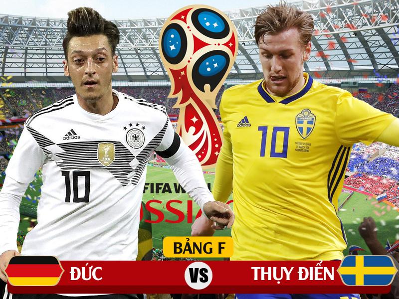 Xem trực tiếp Đức vs Thụy Điển trên kênh nào của VTV?