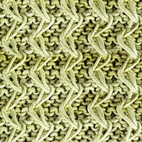 Zig Zag Slip Stitch Knitting. Skill level: Advanced beginner/intermediate. Skills Required: Knit, Purl, Slip Stitch.