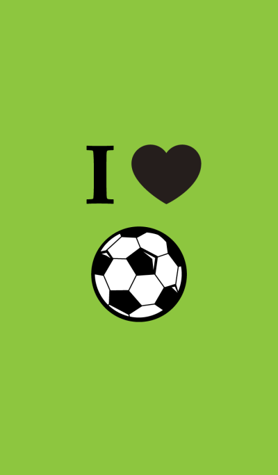 I LOVE FOOTBALL: green & black