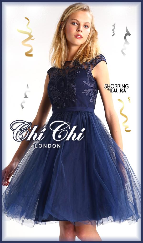 Soirée Tulle Indigo London Robe De Chi En Ygvf6b7yI