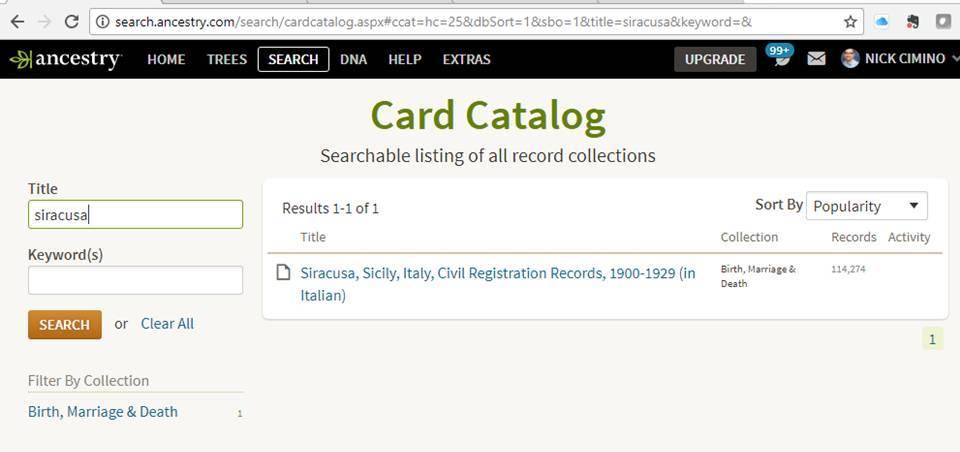 AncestorPuzzles com: Hidden Italian Records on Ancestry com