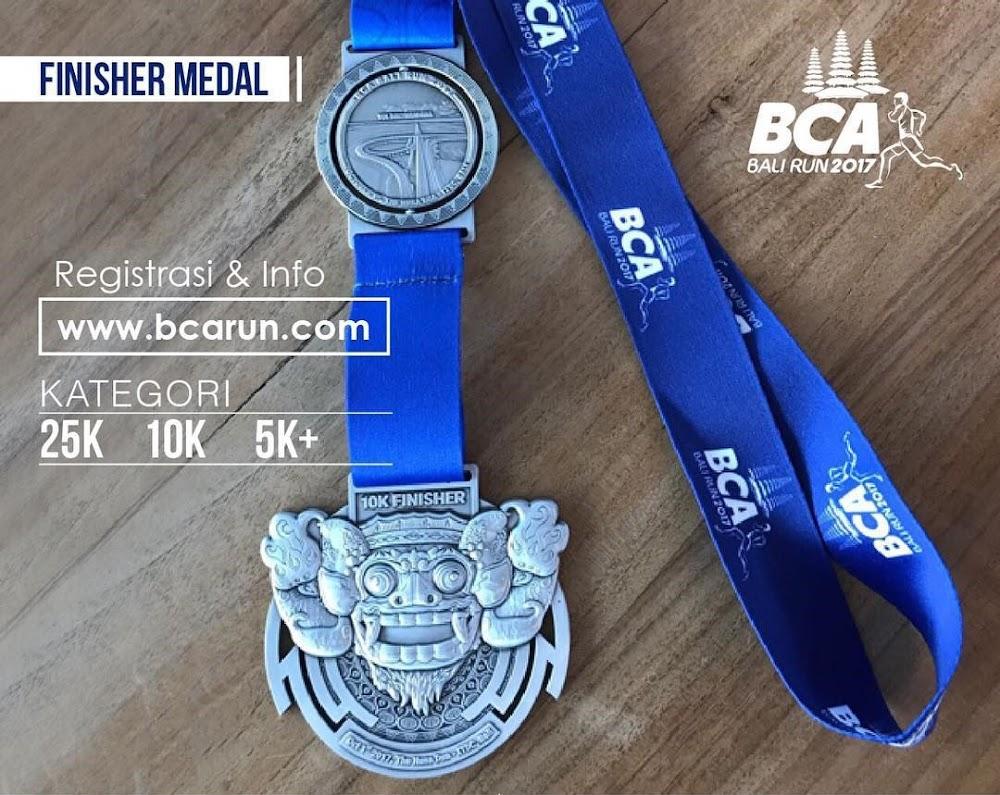 Medali BCA Bali Run • 2017