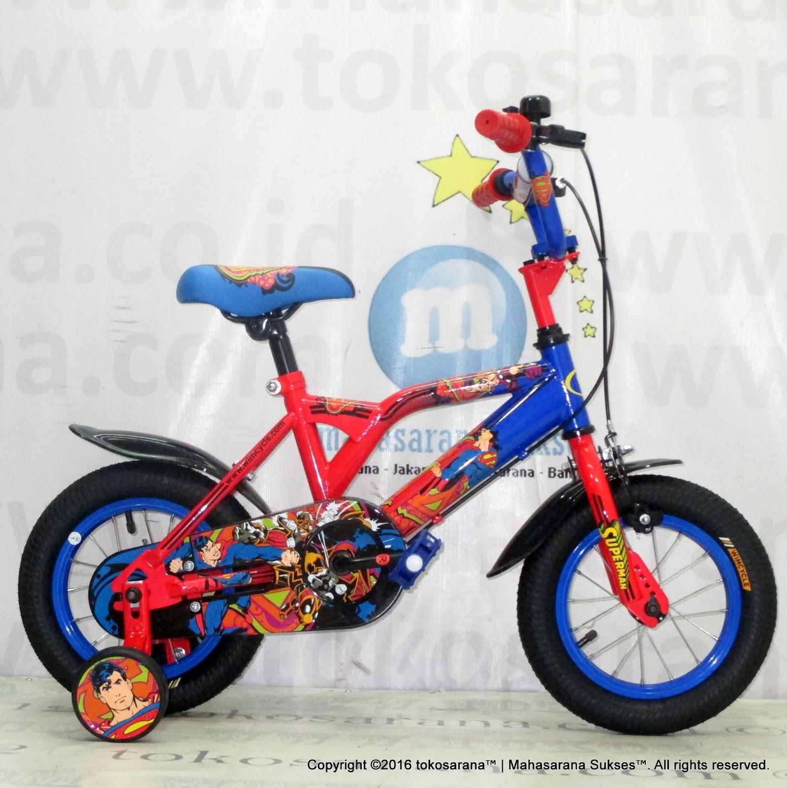 Sepeda Anak Wimcycle Superman 12 Inci Lisensi News Untuk