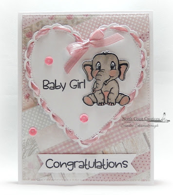 North Coast Creations Stamps & Dies: Bundle of Love, ODBD Custom Dies: Ornate Hearts, Pierced Rectangles, Pennant Flags, ODBD Paper Collections: Shabby Rose, Pastel Pack