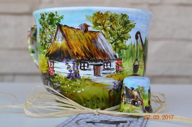 Przegonić samą siebie, kopiować samą siebie i wiejskie chaty na porcelanie