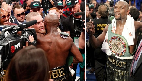Floyd Mayweather Beats Conor McGregor with 10th Round Stoppage In Front Of Star-Studded Las Vegas Crowd