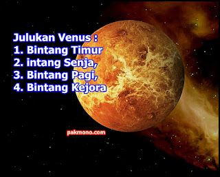 venus julukan bintang timur bintang senja dan bintang kejora