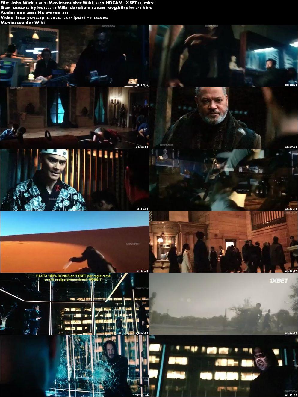 Screen Shots John Wick: Chapter 3 - Parabellum 2019 English HD 300Mb