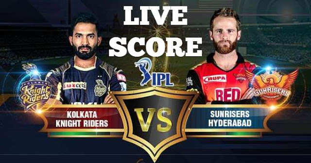IPL 2018 Qualifier 2 SRH vs KKR Live Score and Full Scorecard