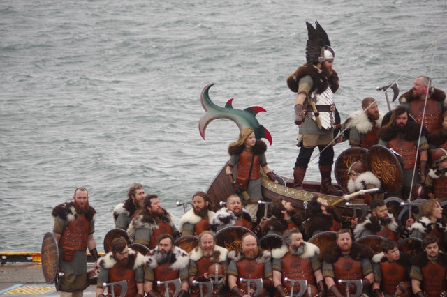 The Jarl Squad and the galley - Up Helly Aa