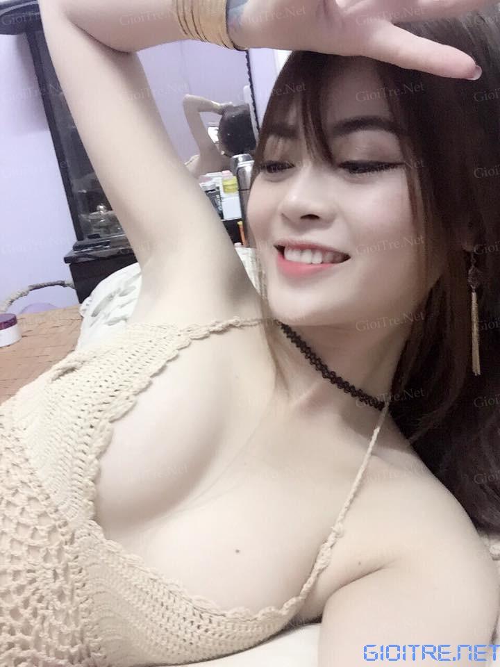 Oanh Trần: Mới bơm ngực xong, mời các bạn trẻ rửa mắt