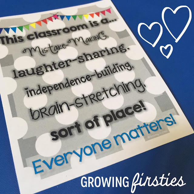 Kindness Growth Mindset poster by Growing Firsties