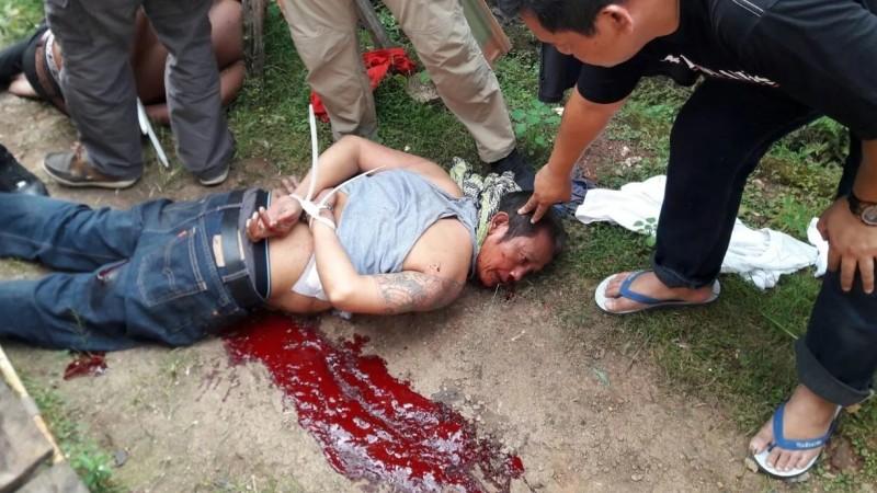 Ramlan Butar-Butar sesudah ditembak polisi