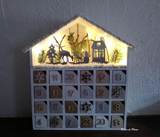 Bulles de Plume Calendrier de l'Avent DIY maison